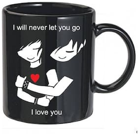 OddClick I wIll Never Let You Go Special Gift For Valentine Day For Girlfriend Boyfriend Wife Husband Friend Anniversary Birthday Ceramic Mug  (300 ml)