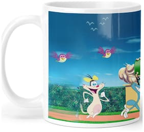 Oggy and the Cockroaches Cartoon Coffee Mug for Friends/Birthday Gifts for Kids/Return Gifts by Ashvah-Mug-2062