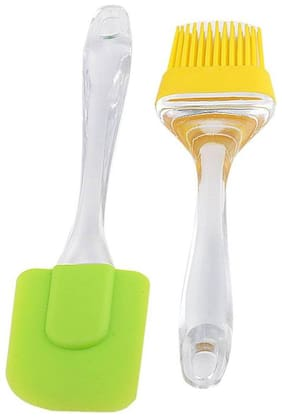 NEERAK Silicone Multi Oil Brushes ( Set Of 2 )