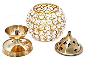 Oil lamp Brass Made Table Diya for Religious or Gift