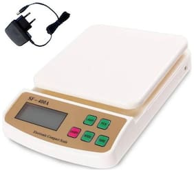 OKASTA Advanced SF 400A with Adaptor 10 Kg Digital Household Use And Backlight Weighing Scale  (White)