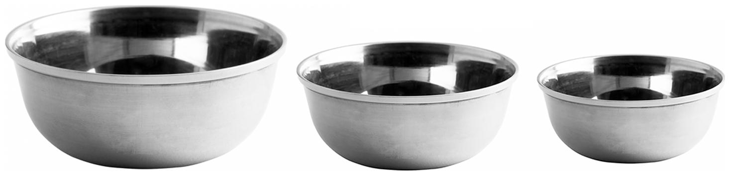 Okos Home and Kitchen Combo Set of 3 Different Size Stainless Steel Bowls UTCO000010