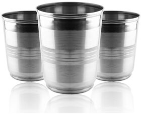 Okos Home and Kitchen Pack 3 250 ml Stainless Steel Glass UTCO000007