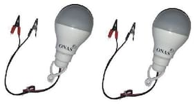 Onas 1pcs 12V 9 Watts DC / Solar LED Light High Brightness Bulb with Clips Bulb Emergency Light  (White)