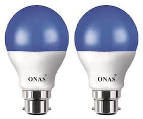 Onas 5 W Standard B22 LED Bulb  (Blue, Pack of 2)