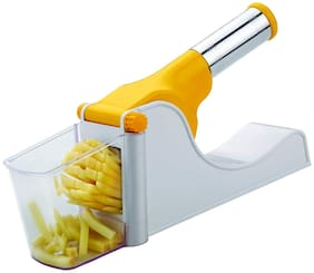 ONE8D Vegetable Chipser French Fries & Finger Chips Cutter Potato Chopper Slicer With Container Made from Virgin Plastic