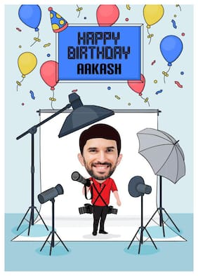 online caricature for him birthday