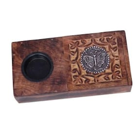 Onlineshoppee Wooden Beautiful Design Ashtray With Cigratte Case
