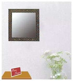 Onlineshoppee Wood Mirror - Set of 1