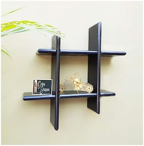 Onlineshoppee Wall Decor Plus style Wooden Wall Shelf/Rack