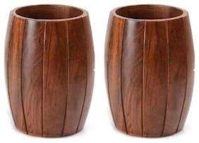 Onlineshoppee Wood Brown Utensil holders ( Set of 2 )