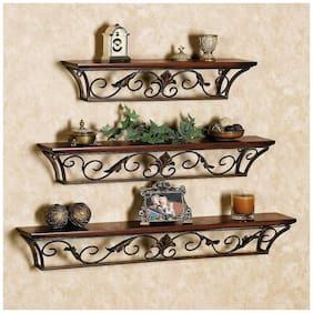Onlineshoppee Hermosa Floating Wall Shelves Set of 3