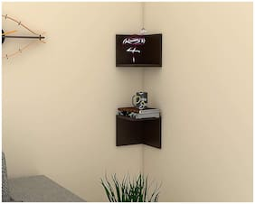 Onlineshoppee Estante Wall Mount Book Shelf Rack/Display Case (Set of 2) - Ideal for Gift.