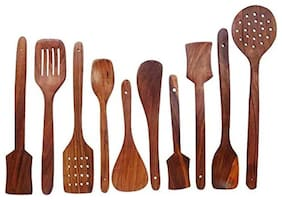 Onlineshoppee Sheesham Wood Cutlery Spoon Set (Pack of 10)