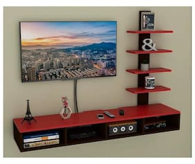 Onlineshoppee Big Tilfizyun Entertainment Unit Table with Set Top Box Stand