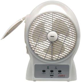 """Orbit Gazebo-x 8"""" Rechargeable Table Fan With LED Light 3 Blade Table Fan  (White)"""
