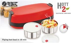 Orbit Orange Electric lunch box ( Set of 1 , 740 ml )