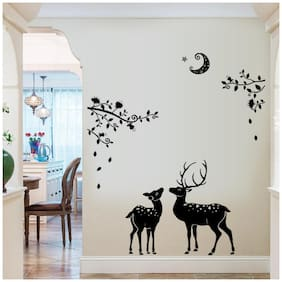 Oren Empower Creative Peace of mind wall stickers for bedroom (Finished Size on Wall - 110 cm X 108 cm)