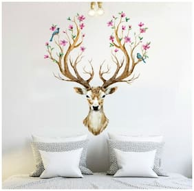 Oren Empower Multicolor The Sika Deer wall sticker for living room