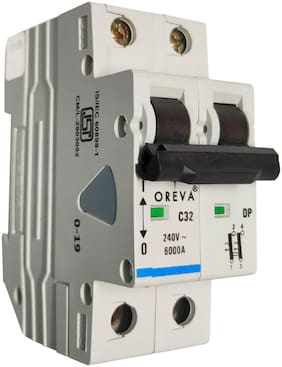 Oreva 32A Double Phase Mcb (Set Of 1)