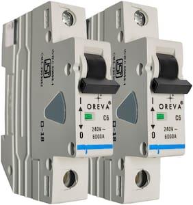 Oreva 6A Single Phase Mcb (Set Of 2)