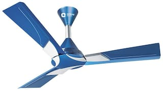 Orient Electric Wendy 1200 mm Decorative Ceiling Fan ( Blue & Silver , Pack of 1 )