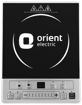 Orient Electric ICTEC16BGM 1600 W Induction Cooktop ( Silver & Black , Touch Panel Control)