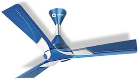 Orient Wendy 1200 mm Premium Ceiling Fan ( Blue & Silver , Pack of 2 )