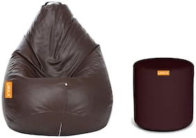 Orka Classic Kids Filled Bean Bag With Matching Footstool