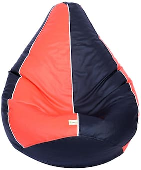 Orka Classic Kids Filled Bean Bag With Beans (Orange;Black with White Piping)