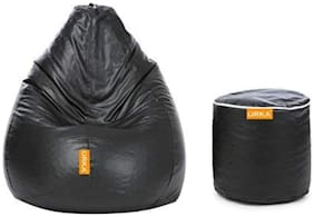 Orka Classic XL Bean Bag Cover With Matching Footstool Cover