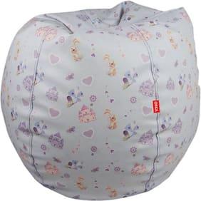 Orka Digita Printed XL Size Bean Bag With Filled Beans