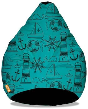 Orka Ocean Digital Printed Kids Bean Bag Cover