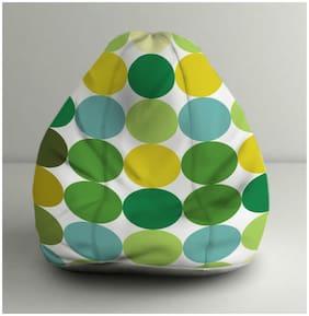 Orka Digital Printed Geometric Pattern XL Bean Bag With Beans