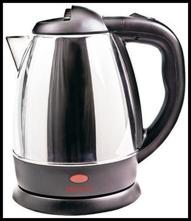 Orpat OEK 8137 1.2 L Electric Kettle (Silver)