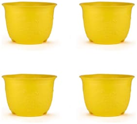 OSHIGREENS Round Flower Pots Pack of 4