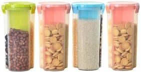 Osious 1500 ml Multi Plastic Container Set - Set of 4