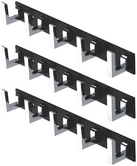 Osious Steel Black Hangers ( Set of 3 )