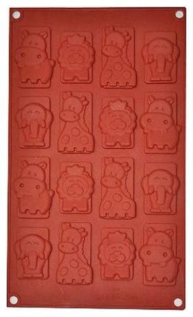 Ourz Silicone Chocolate Mould / Ice Mould / Animals Mould - Lion, Elephant, Giraffe, Pig