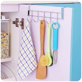 Over Door 5 Hook Hanger Organiser for Kitchen Bathroom