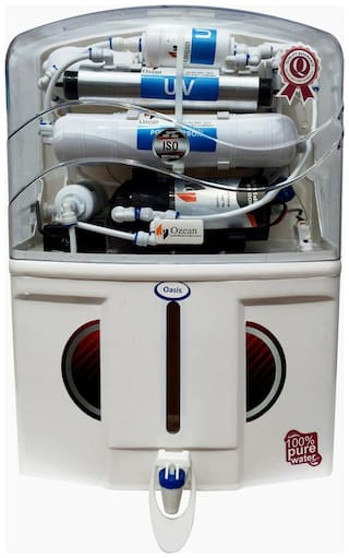 Ozean Oasis 12 L RO + UV + TDS Controller With Mineral Electric Water Purifier