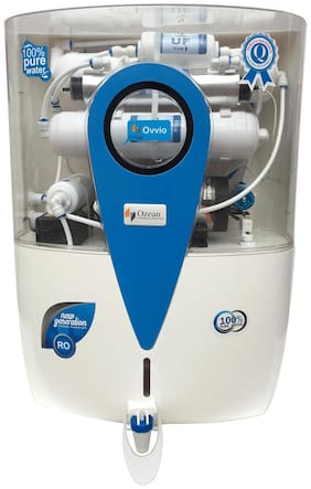 Ozean (Ovvio) 12 ltr RO+UV+UF+Mineral+TDS Electrical Water Purifier (White)