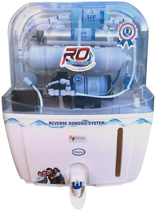 Ozean (Rivera) 12 ltr RO+UV+UF Electrical Water Purifier (White)