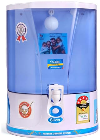 Ozean (Silver) 10 L RO Electrical Water Purifier (Blue)