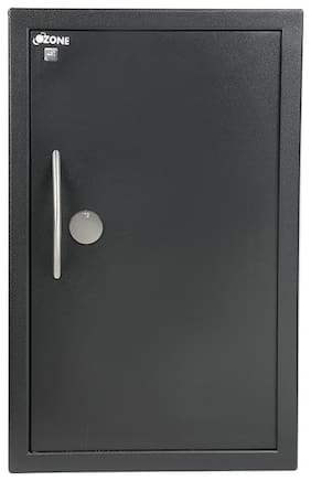 Ozone Convenio manual - 12 Key lock Steel Home Safe ( Black , 55 L )