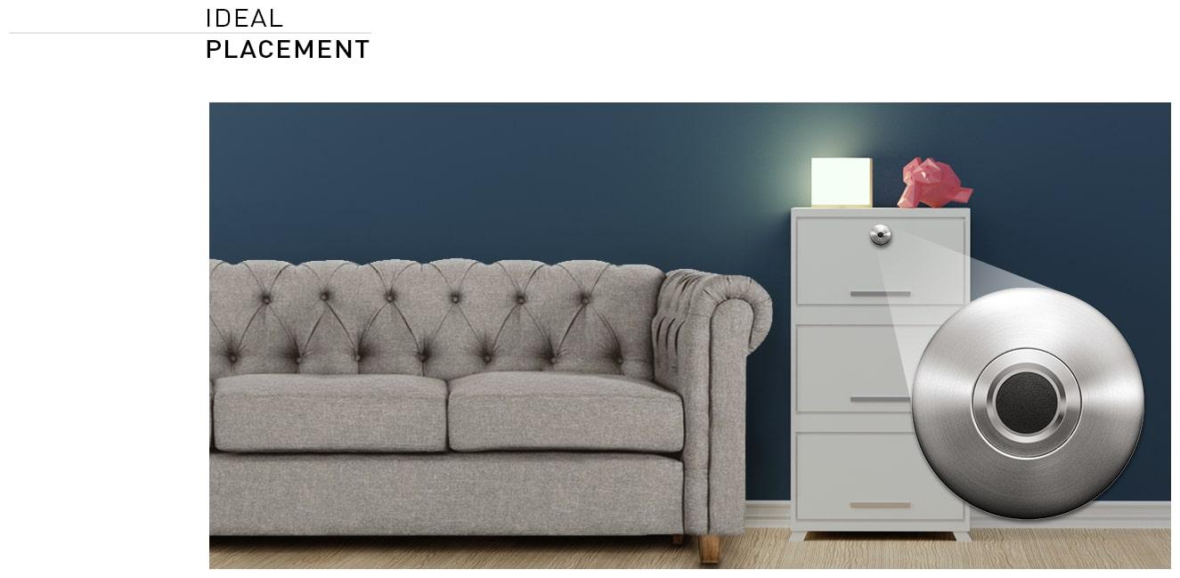 Ozone Smart Furniture Lock OZFL-55 F SN (Satin Nickel)