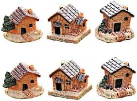 P S Retail Sweet Home Mini Resin Crafts Fairy Garden Miniatures (6 pcs Set)