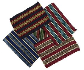 Pack of 5 Peponi Multi color Cotton Small Floor Mats