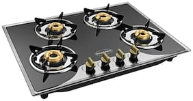 Padmini 4 Burners Hob Top Gas Stove - Black , Auto Ignition