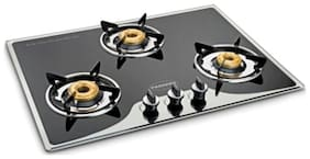 Padmini 3 Burners Hob Top Gas Stove - Black , Auto Ignition